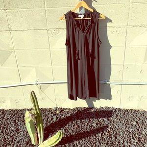 Michael Kors XL Black Knot Dress with Tassels